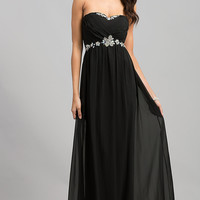 Floor Length Strapless Dress