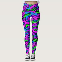 Colorful Abstract Stripes - Pop Art Retro Style Leggings
