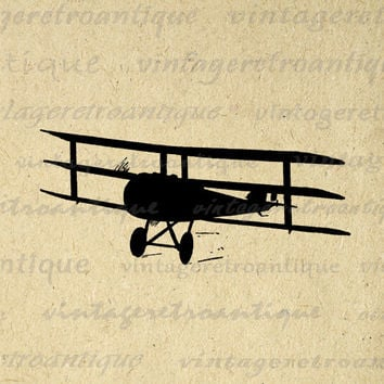 Digital Image Antique Airplane Silhouette Download Plane Illustration Graphic Printable Vintage Clip Art HQ 300dpi No.3353
