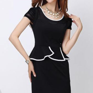 New Arrivals Women Lady Girls slinky Sexy peplum OL work dress Party Gown Cocktail elegant Party Dancing Clubware dress