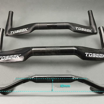 TOSEEK  full carbon rest handlebar TT  handlebar road bike  bicycle 31.8*400/420/440mm matte gloss UD finish black bike parts