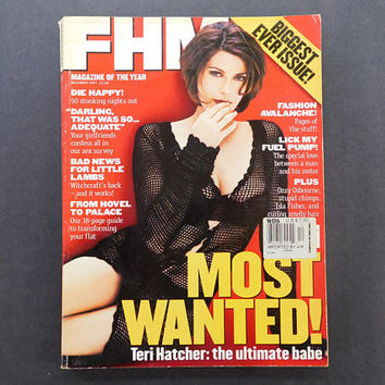 1990s Vintage / FHM Magazine / For Him Magazine / December1997 / Teri Hatcher / British Mens Magazine / 90s Fashion / Eurostyle / Jackets