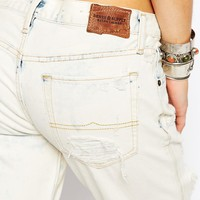 Denim & Supply By Ralph Lauren Bleach Effect Boyfriend Jeans