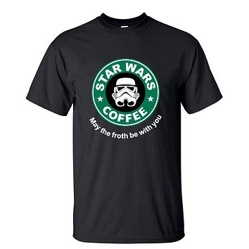 2017 New Arrival Cool star wars T Shirt funny COFFEE