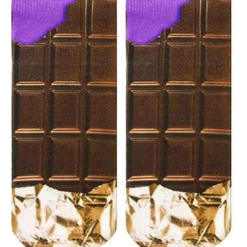 Chocolate Bar Ankle Socks