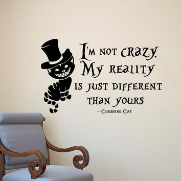 Wall Stickers   Alice In Wonderland Cheshire Cat  Wall Paper Vinyl   Removable Home Decor    Wallstickers 18APR27