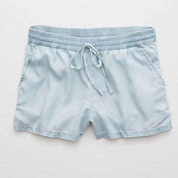 Aerie Chambray Short, Light Blue
