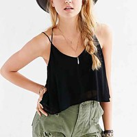 Lucca Couture Lace-Inset Racerback Cami-