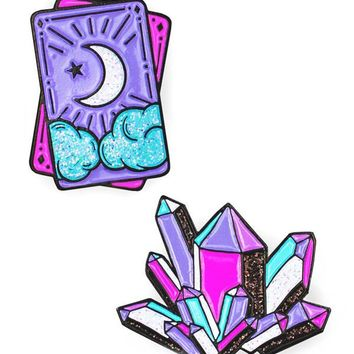 Tarot & Crystal Pin Set