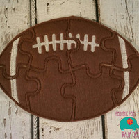 Felt football puzzle embroidered embroidery jigsaw puzzle learning toy, activity, quiet game, kids toys, montessori, homeschool, busy book