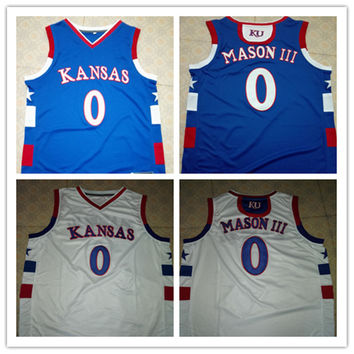 Frank MASON III Jersey, #0 KU 's Kansas Jayhawks Jerseys,Mens 100% Double Stitched Top Quality Basketball Jerseys