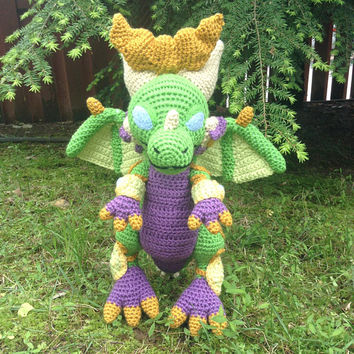 World of Warcraft Inspired: Lil Ysera, Dragon Whelpling Amigurumi (Crochet Plushie/Plush Toy) - MADE TO ORDER