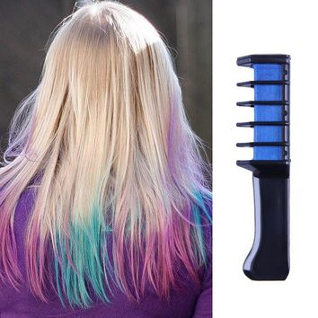 Hair Color Mascara Dye Hair Color Chalk With Comb Disposable Temporary Multicolor Dye Hair Color Dye Comb Styling Tool