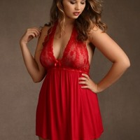 Plus Size Super Soft and Comfy Halter Chemise | Hips & Curves