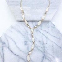 Marble Stone Y Necklace