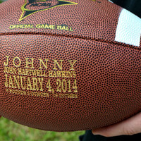 Personalized Football, Engraved Ring Bearer, Groomsmen and Best Man Gift, Wedding Keepsake