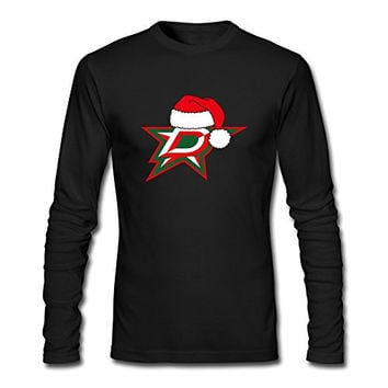 KR Men's 2016 Christmas Hat Dallas Stars Logo Black T-shirt