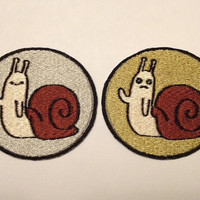 Iron on Adventure Time Hidden Snail embroidered patch COMBO PACK