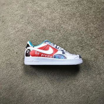 KUYOU Custom Air Force 1 x Kaws x Supreme x Bape Low Cut