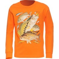 Academy - Guy Harvey Boys' Bass Collage Long Sleeve T-shirt