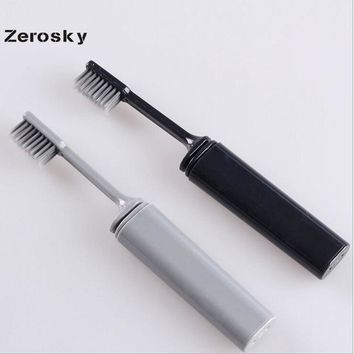 Portable Compact Bamboo Charcoal Folding Toothbrush Fold Travel Camping Hiking Outdoor Easy To Take Foldable Teethbrush 10*15cm