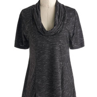 Travel Mid-length Short Sleeves Overnight Travel Top in Pepper