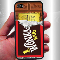 Willy Wonka Golden Ticket Inspired iPhone Case - Rubber iPhone 4 Case or Hard iPhone 5 Case