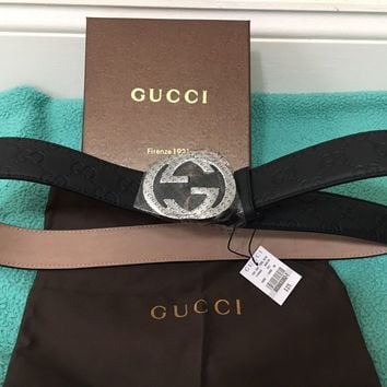 NWT Authentic Gucci Guccissima Black Leather Belt 95/38 32-34 114984 AA61N
