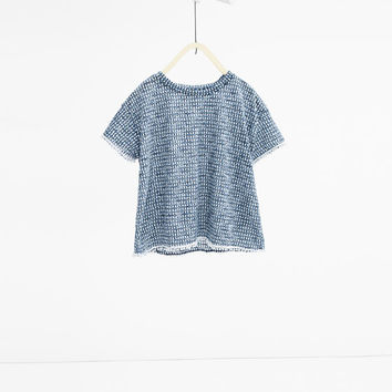 Lace trim printed T - shirt-View All-T-SHIRTS-GIRL | 4-14 years-KIDS | ZARA United States