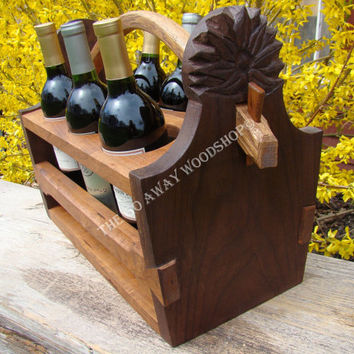 "Wine tote, ""Spring"" , all rights reserved."