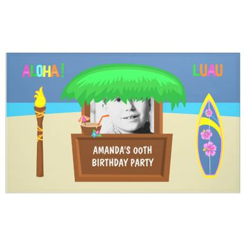 Kids Hawaiian Luau Party Customizable Banner