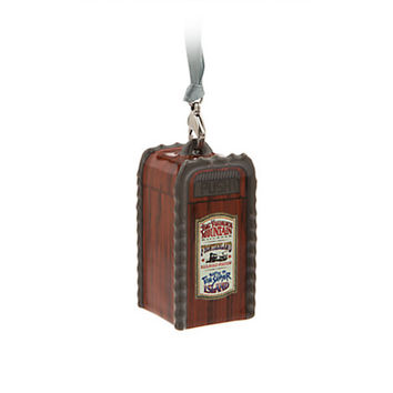 Disney Parks Frontierland Trash Can Ceramic Christmas Ornament New with Tags