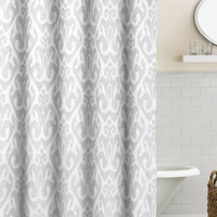 Duck River Martina Ikat Shower Curtain - Silver