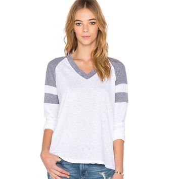 Block V-Neck Sweater Shirt