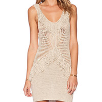 AMUSE SOCIETY Tribe Dress in Beige