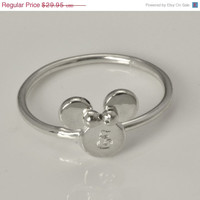ON SALE Minnie Mouse Ring - Disney Ring - Disney Jewelry - Engraved Jewelry - Personalized Ring - Personalized Jewelry