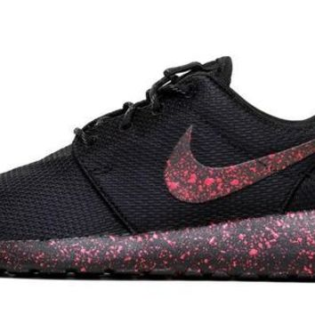CLEARANCE - Nike Roshe One + Speckled Paint - Red 63f11b05dc