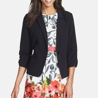 Women's Eliza J Ruched Sleeve Blazer,