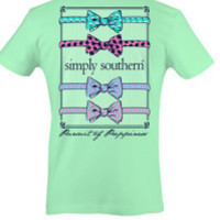 Simply Southern Bows Tee - Green