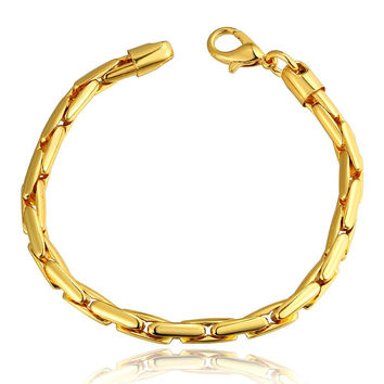 18K Gold Greek Bracelet with Swarovski Elements