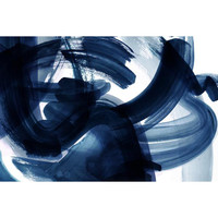 Rhythm II Abstract Blue Wall Art