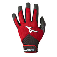Mizuno MVP Baseball Batting Gloves - Red