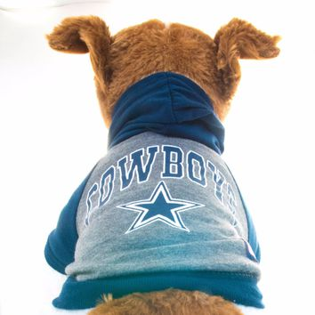 Dallas Cowboys Hoodie Dog Shirt NFL Football Officially Licensed Pet Product