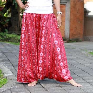 Harem Skirt Pants, Long skirt pant, ethnic red harem skirt