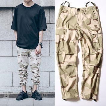 HCXX military urban hiphop clothing overalls men kanye west fashion yezzy joggers