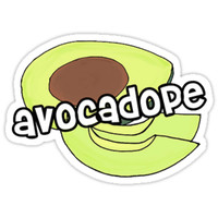 'avocado dope ' Sticker by dopeststickers