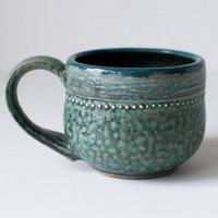Ancient Turquoise Mug 12 Ounces by DiTerra on Etsy