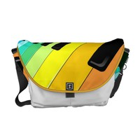 Keyboard Music Party Colors Courier Bag