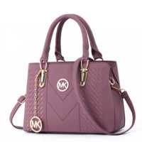 MK Michael Kors Women Fashion New Leather Shopping Handbag Shoulder Bag Purple
