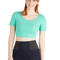 On Crop of the World Top in Mint